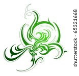 decorative plant abstraction | Shutterstock .eps vector #65321668