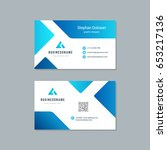 business card design trendy... | Shutterstock .eps vector #653217136