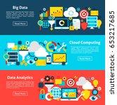 big data horizontal banners....   Shutterstock .eps vector #653217685