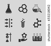 scientific icons set. set of 9... | Shutterstock .eps vector #653218042