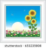 greeting card with sunflowers...