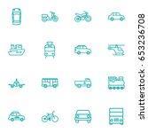 set of 16 shipping outline... | Shutterstock .eps vector #653236708
