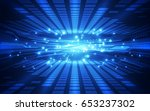 abstract technology concept.... | Shutterstock .eps vector #653237302