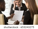 employers or recruiters holding ... | Shutterstock . vector #653243275