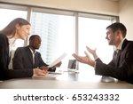 applicant making great... | Shutterstock . vector #653243332