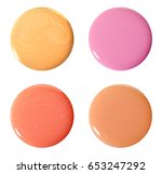 blots of nail polish. isolated... | Shutterstock . vector #653247292