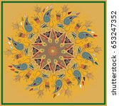 colorful antistress mandala in...