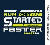 run sport athletic typography ... | Shutterstock .eps vector #653247988