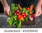market. healthy vegan food.... | Shutterstock . vector #653250442