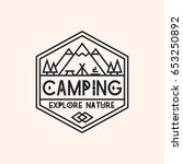camping logo consisting of... | Shutterstock .eps vector #653250892