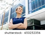 new business day is ahead | Shutterstock . vector #653252356
