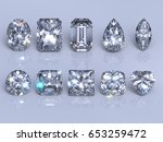 ten  the most popular diamond... | Shutterstock . vector #653259472