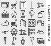 set of 25 outdoor outline icons ...   Shutterstock .eps vector #653259646