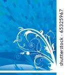 floral blue background | Shutterstock .eps vector #65325967