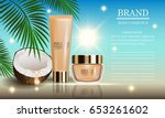 cosmetics beauty marine summer... | Shutterstock .eps vector #653261602