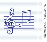 music violin clef sign. g clef... | Shutterstock .eps vector #653262076