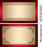 red and gold vintage... | Shutterstock .eps vector #653262442