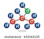 alcohol molecule structure .... | Shutterstock .eps vector #653263135
