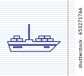 ship sign illustration. vector. ... | Shutterstock .eps vector #653271766