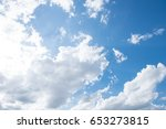 blue sky with white cloud....   Shutterstock . vector #653273815