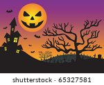 halloween invitation with... | Shutterstock . vector #65327581