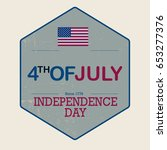 independence day 4 th july.... | Shutterstock .eps vector #653277376