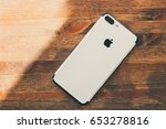 iphone 7 plus jet black in... | Shutterstock . vector #653278816