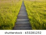 footbridge through the lawki... | Shutterstock . vector #653281252