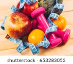 fruit and vegetables as part of ... | Shutterstock . vector #653283052