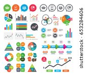 business charts. growth graph.... | Shutterstock .eps vector #653284606