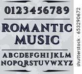 script  font handcrafted vector ... | Shutterstock .eps vector #653290672