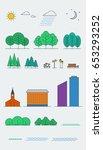 city landscape design elements. ... | Shutterstock . vector #653293252