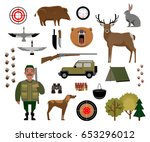 hunter  hunting  game  wild... | Shutterstock .eps vector #653296012