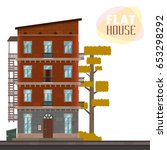 high rise house. illustration... | Shutterstock .eps vector #653298292