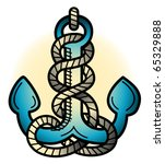 tattoo design of an anchor in... | Shutterstock .eps vector #65329888