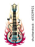 tattoo design of a rock and... | Shutterstock .eps vector #65329921
