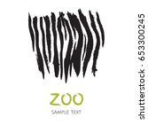Hand Drawn Zebra Skin Template...