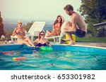 male jump style bomb in open...   Shutterstock . vector #653301982
