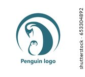 abstract penguin logo. vector... | Shutterstock .eps vector #653304892