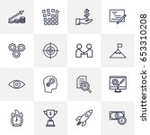 set of 16 idea outline icons... | Shutterstock .eps vector #653310208