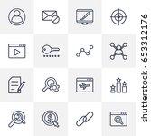 set of 16 optimization outline... | Shutterstock .eps vector #653312176