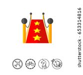 red carpet icon   Shutterstock .eps vector #653314816