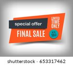 50  off sale banner design.... | Shutterstock .eps vector #653317462