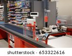 new and modern checkout... | Shutterstock . vector #653322616