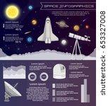 solar system space shuttle...   Shutterstock .eps vector #653327008