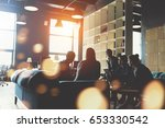silhouette of young startup... | Shutterstock . vector #653330542