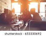 silhouette of startup team.... | Shutterstock . vector #653330692