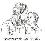 portrait of happy mother and... | Shutterstock .eps vector #653331322