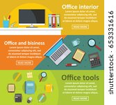 office tools banner horizontal...   Shutterstock .eps vector #653331616