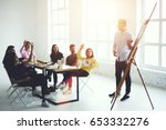young skilled team members...   Shutterstock . vector #653332276
